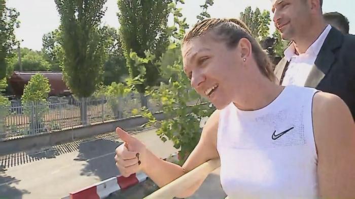 Simona Halep salută mirii în Constanța