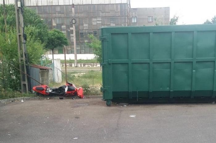 Accident de motocicletă în Reșița