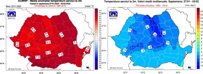 Prognoza meteo 3-10 februarie 2020