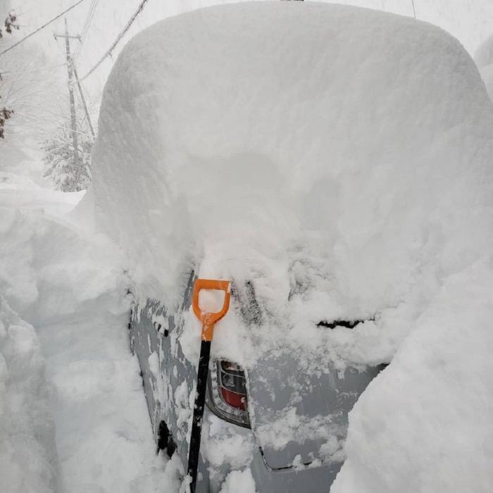 Zăpadă pe maşină
