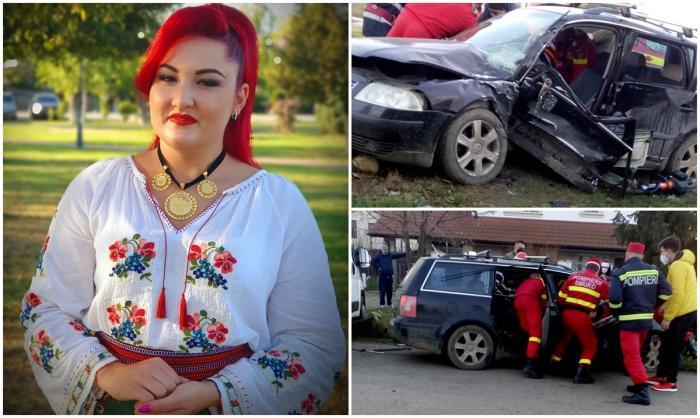 Denisa Gog, o tânără de 22 de ani din Dumbrăviţa, a murit într-un teribil accident