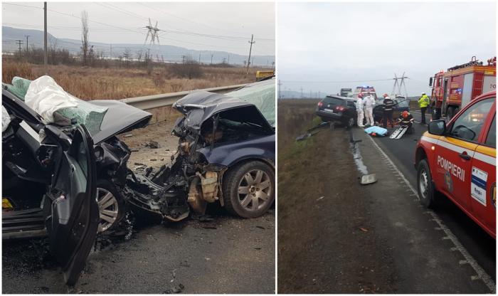 Accident cu doi morți și trei răniți la ieșirea din Avrig, între Sibiu și Brașov
