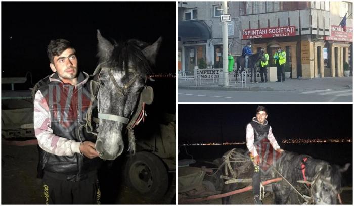 Sergiu, tată din Iași pe cal