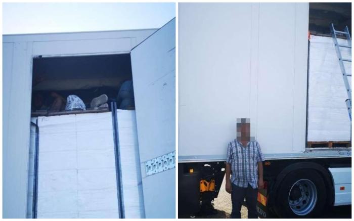 Migranți înghesuiți printre cutii cu pește, în camionul unui șofer turc, la granița României cu Ungaria
