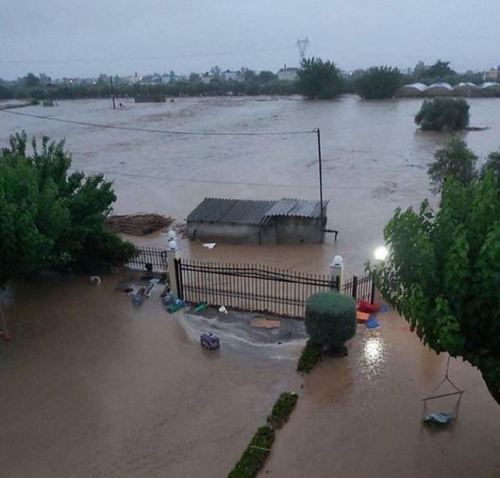Inundații devastatoare în Grecia, pe Insula Evia.