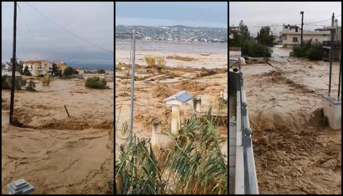 Inundații devastatoare în Grecia, pe Insula Evia. Trei oameni au murit, printre care și un bebeluș
