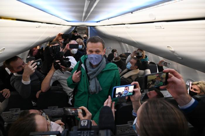 Alexei Navalnii, arestat la intoarcerea in Rusia