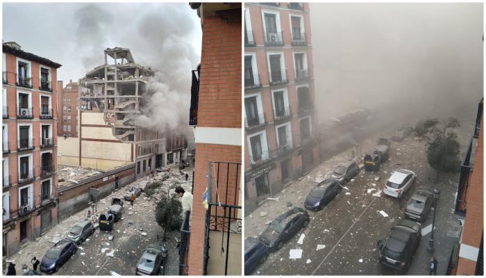 Explozie violentă în Madrid