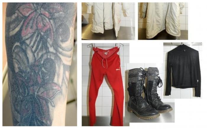 Fotografii cu tatuajul și hainele femeii găsite fără viață în Germania