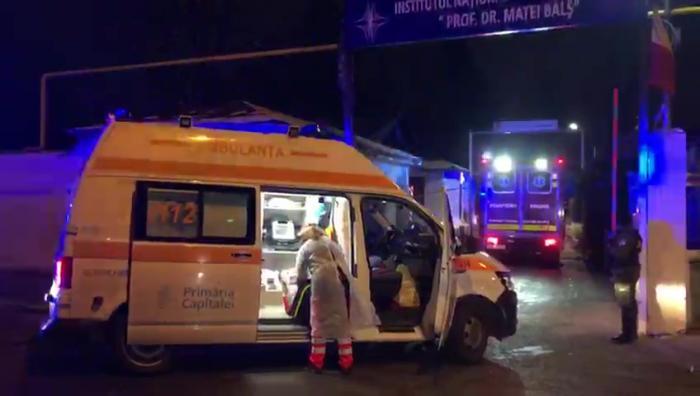 Un incendiu a izbucnit, vineri dimineață, la Spitalul Matei Balș din dimineață