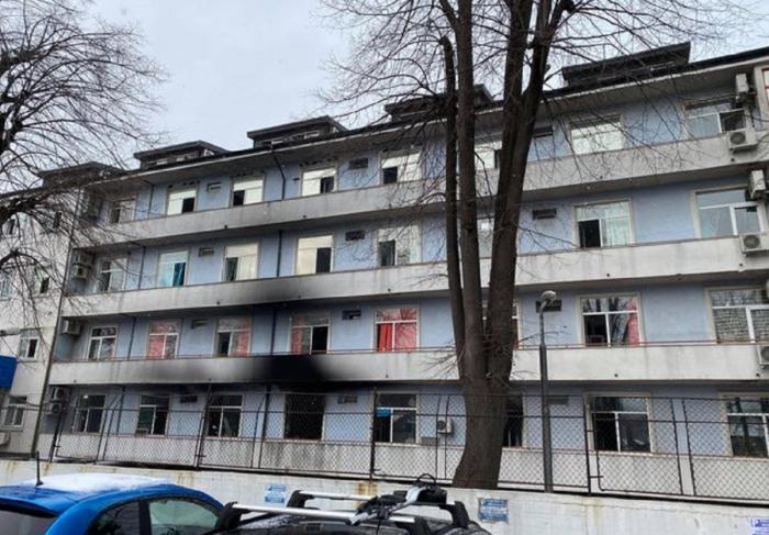Aripă a Spitalului Matei Balş după incendiu