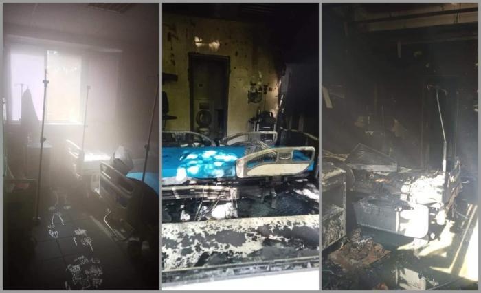 Primele imagini cu saloanele Spitalului din Constanţa, arse în urma incendiului