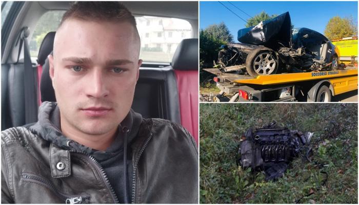Cătălin a murit după un accident cu BMW, în Italia
