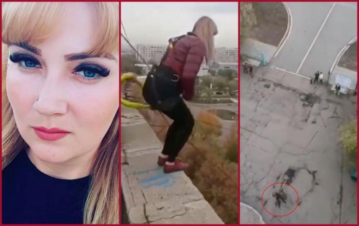 """O mamă a trei copii a murit, după ce a sărit de la 24 de metri cu o coardă nesecurizată. """"Te iubesc"""", au fost ultimele cuvinte pe care femeia le-a auzit înainte de saltul final din Kazakhstan"""