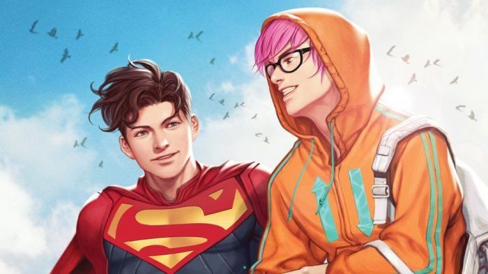 Superman este prezentat într-o relaţie cu prietenul său Jay Nakamura