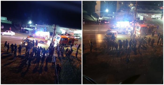 Trei persoane au fost transportate la spital