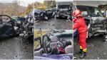 Accident înfiorător pe DN1, la Posada. Un bebeluş a ajuns la spital, după ce s-a lovit la cap