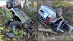 O femeie s-a răsturnat cu maşina într-o râpă, după ce a pierdut controlul volanului, în Bumbeşti Pitic