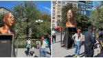 Statuia memorială a lui George Floyd a fost vandalizată pentru a doua oară în ultimele luni