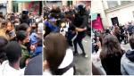 Lupte violente pe străzile Parisului. Fanii Squid Game s-au luat la bătaie în faţa magazinului dedicat serialului - VIDEO