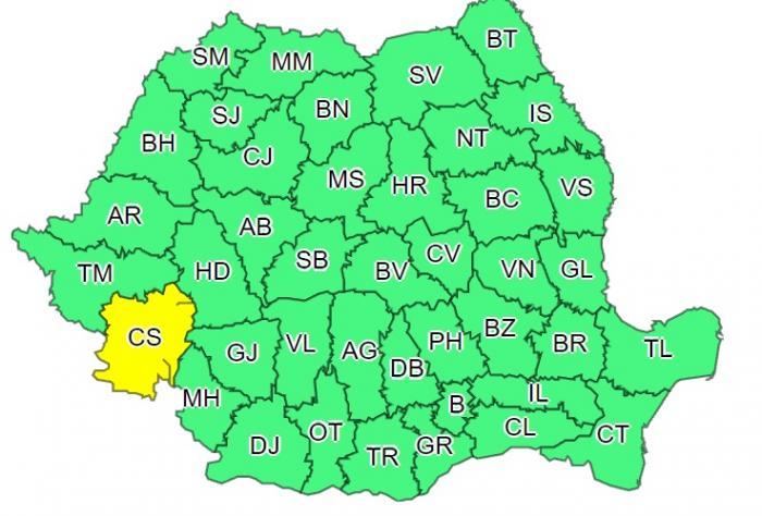 Alertă meteo de vijelii puternice în toată țara. ANM anunță rafale de 100 km/oră în sudul județului Caraș-Severin