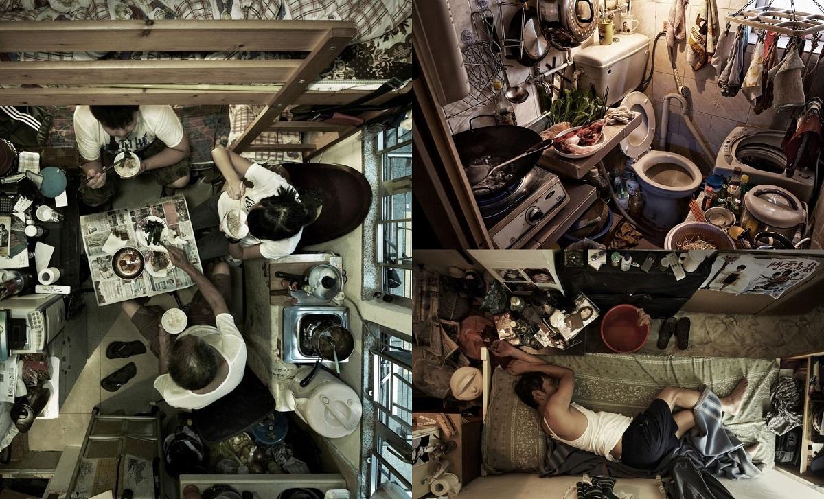 Colaj fotografii: Viaţa în cele mai mici apartamente din lume