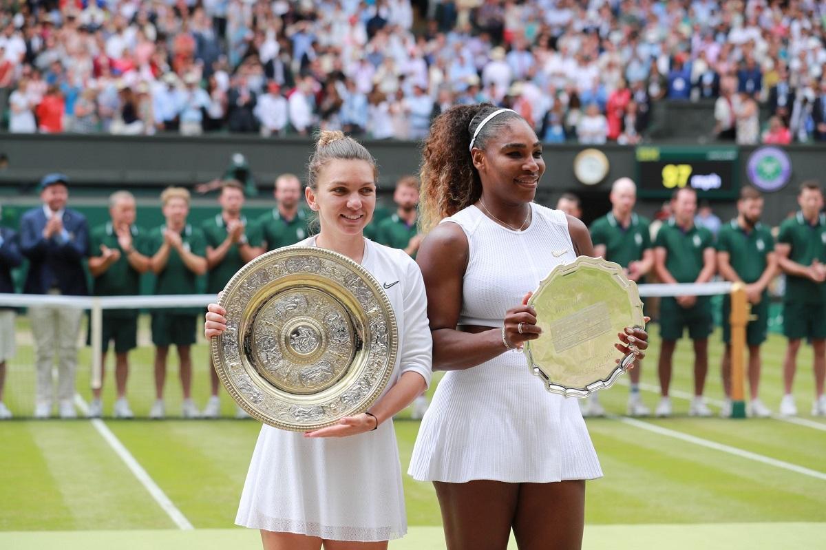 Cea mai importantă victorie obţinută de Simona Halep împotriva Serenei Williams a fost în finala de la Wimbledon, din 2019