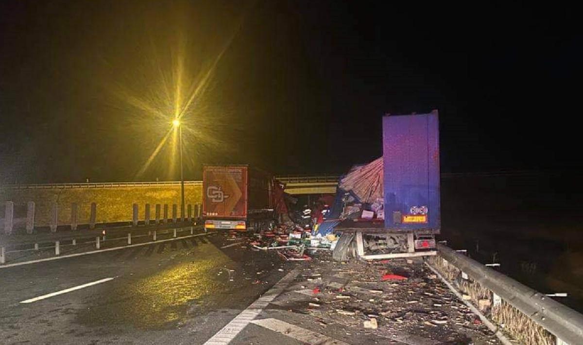Din fericire, accidentul de pe Autostrada A1 nu s-a soldat cu victime