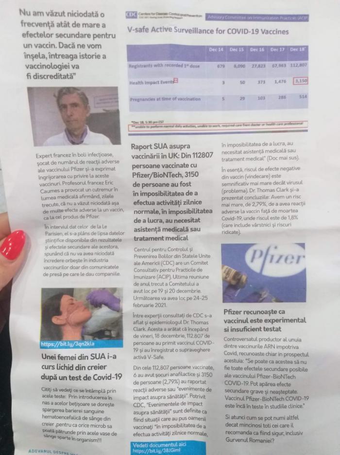 """Revista """"Adevărul despre noul vaccin ARN Covid19"""" 2/3"""