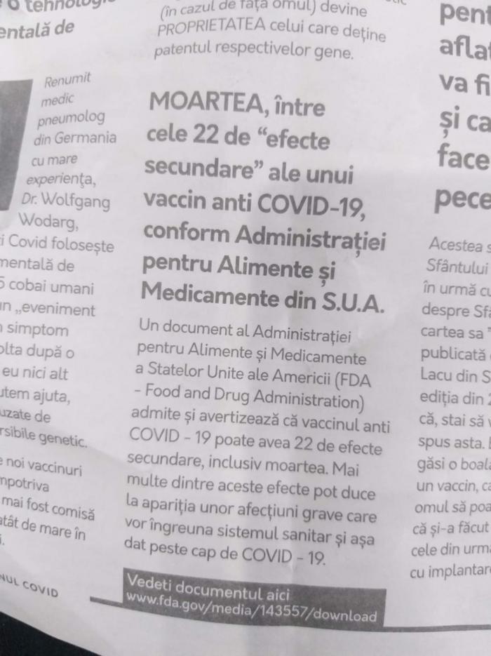 """Revista """"Adevărul despre noul vaccin ARN Covid19"""" 3/3"""
