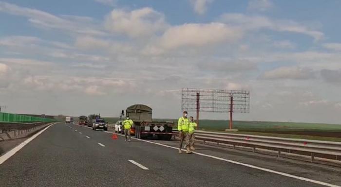 Accident cu convoi al Armatei Americane, pe Autostrada Soarelui