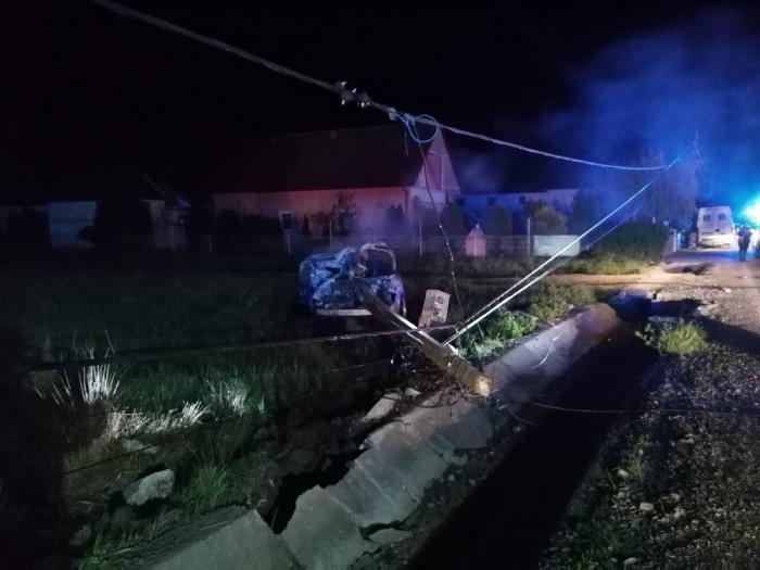 Mugurel a murit ars de viu într-un Audi TT făcut scrum, în Satu Mare. Maşina a luat foc după ce s-a izbit violent de un stâlp