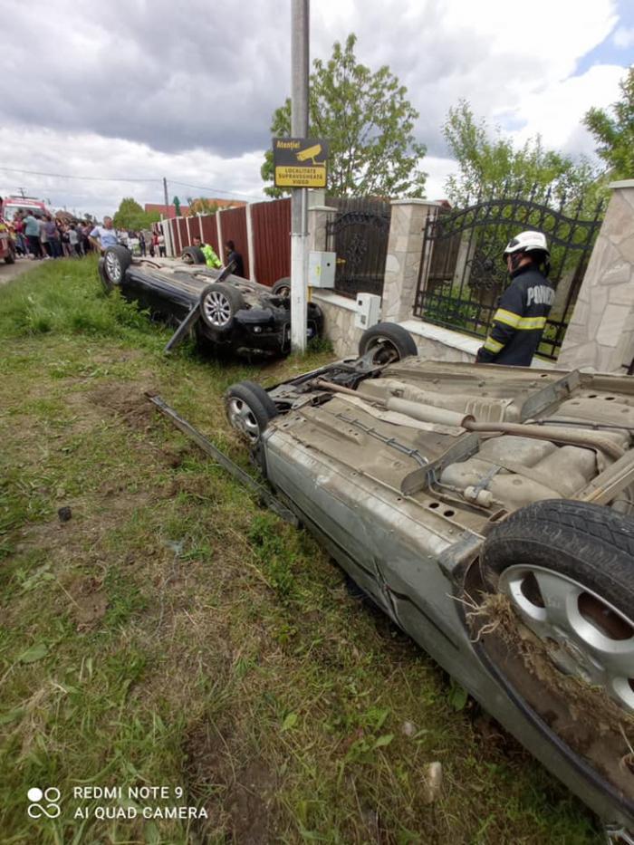Accident cu șapte victime la Borlești, în Satu Mare