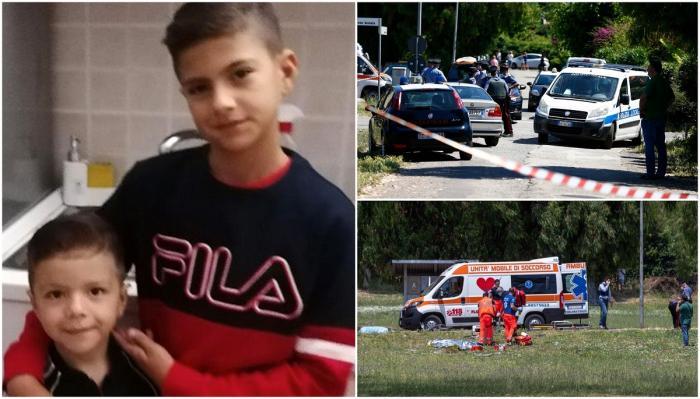 Doi frățiori, de 5 și 10 ani, au fost împușcați în parc, la câțiva metri de casă, în Italia. Daniel și David au murit ținându-și tatăl de mână