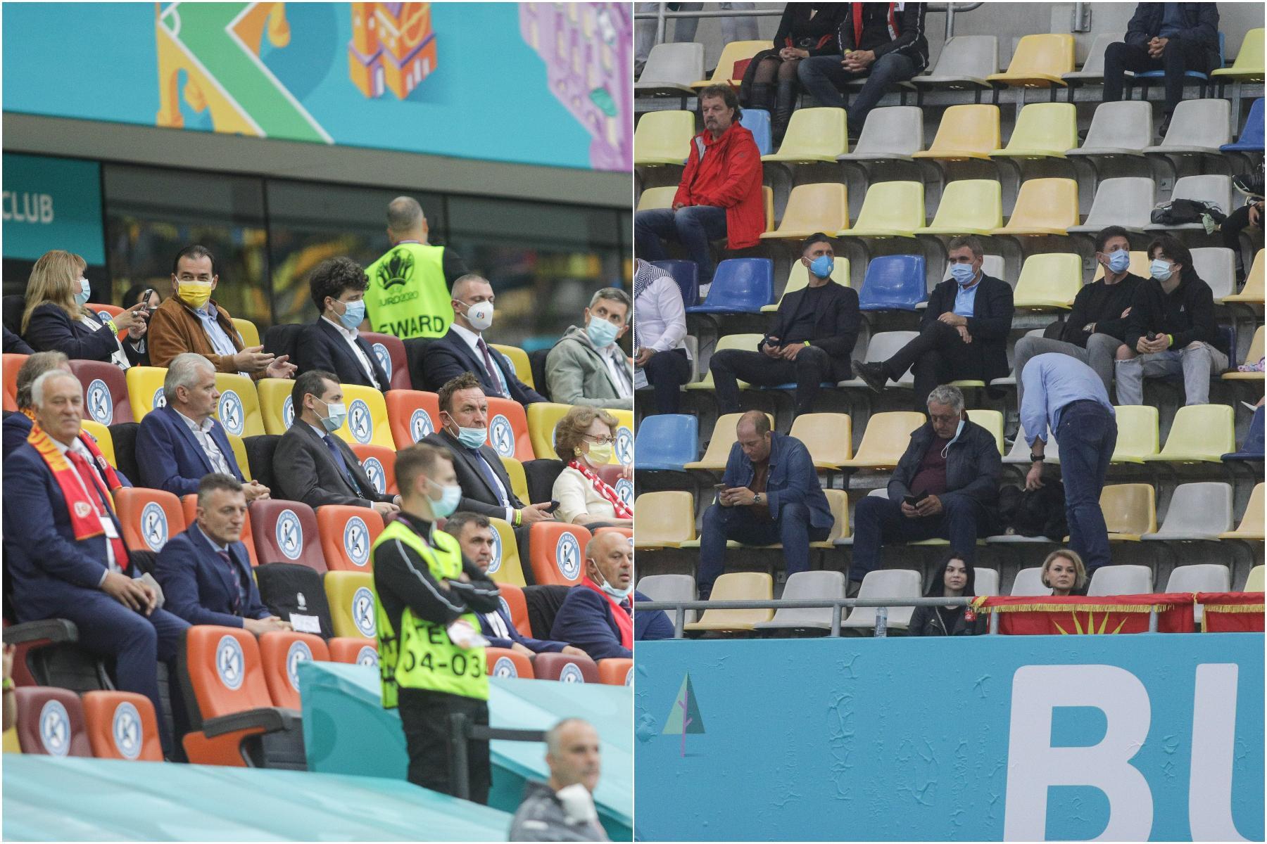 Politicienii în zona VIP, legendele din fotbal la tribuna a II-a. Explicația FRF și reacția lui Gică Popescu