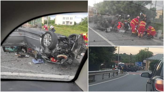 Un copil a murit după un teribil accident în Dolj. Mașina în care se afla s-a izbit de un cap de pod şi s-a răsturnat