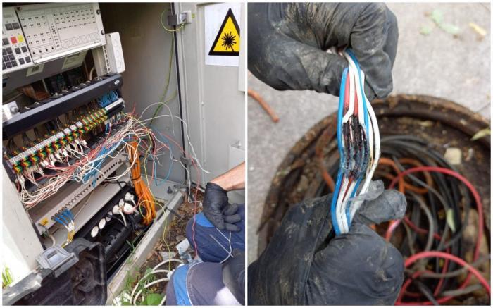 Cabluri roase de șoareci, semafoare defecte într-o intersectie din București