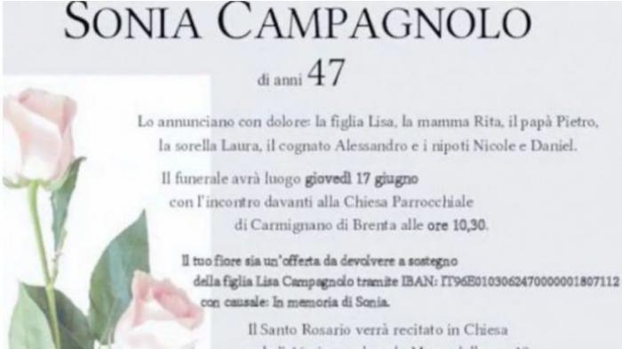 Cont Iban scris pe crucea unei mame răpusă de cancer, ca rudele și prietenii să-i ajute fiica rămasă singură pe lume, în Italia