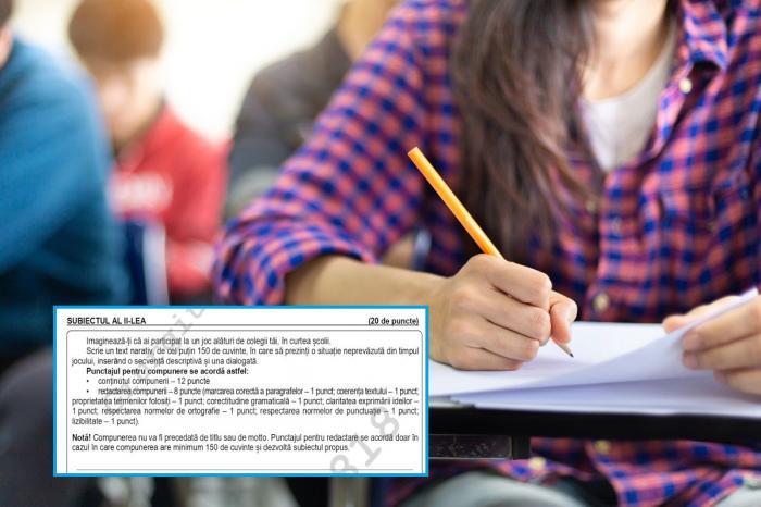 Evaluare naţională 2021 - limba şi literatura română. Baremul publicat de Edu.ro