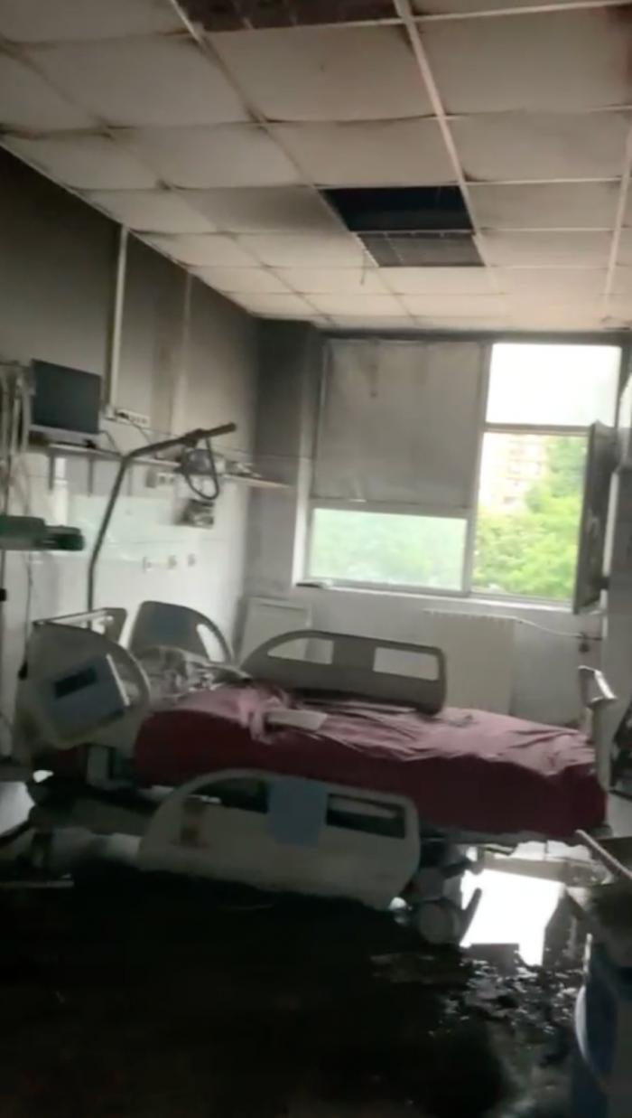Primele imagini din interior de la Spitalul de Copii din Iaşi după incendiu