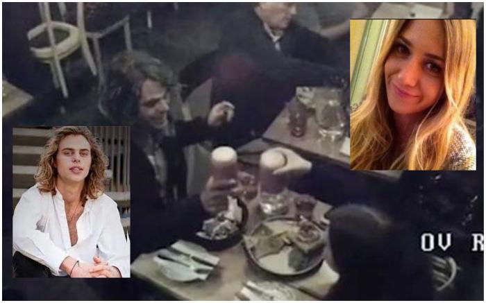 Courtney Herron și Henry Hammond, la masa, cu câteva ore înainte de crimă