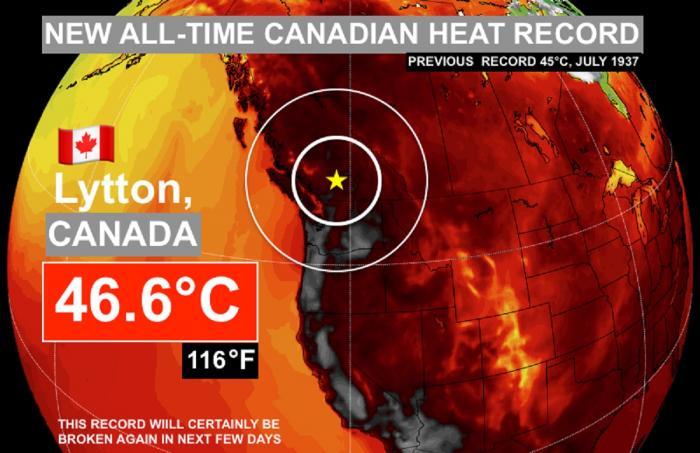 Val de căldură fără precedent în Canada. S-au înregistrat 46,6 grade Celsius, la umbră