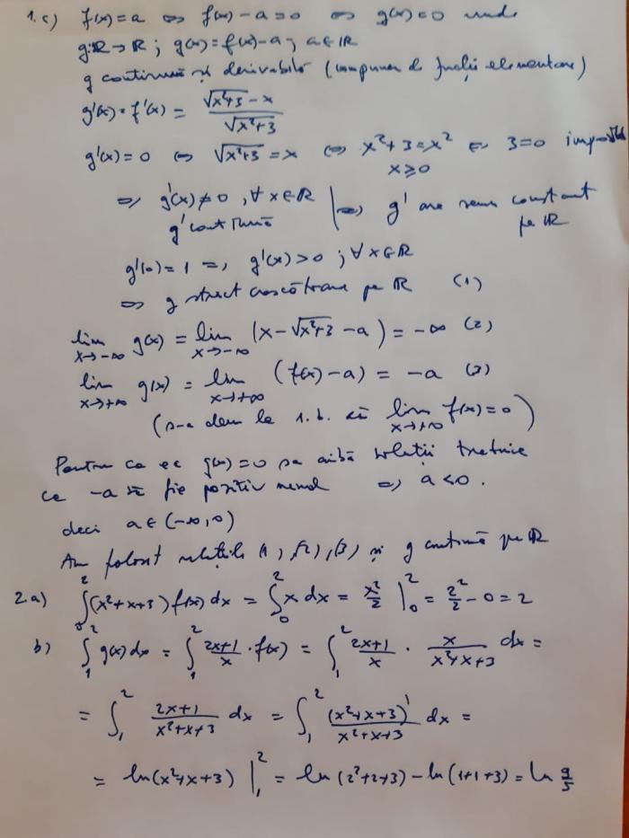Rezolvare subiecte la matematică informatică BAC 2021