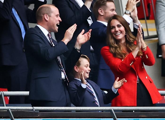 Prințul George, la meciul Anglia - Germania