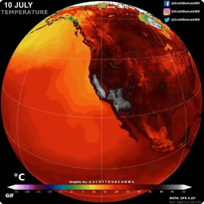 Temperatură record în Statele Unite: 54,4 grade la umbră