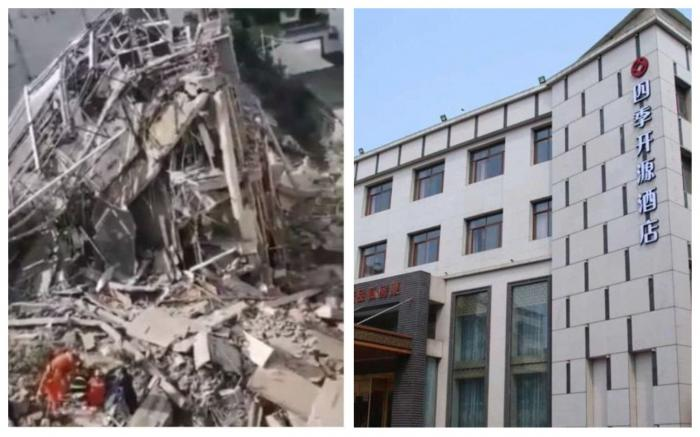 Hotel prăbuşit în China, cel puțin un mort și zece persoane dispărute