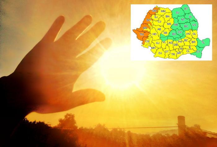 Alertă meteo de caniculă în Bucureşti şi 29 de judeţe, în următoarele 48 de ore. Cod portocaliu în vestul ţării