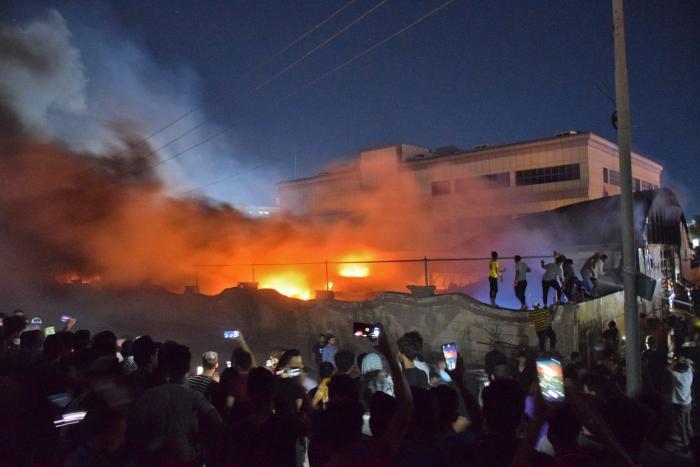 Imagini cutremurătoare cu spitalul Covid devastat de incendiu, în Irak