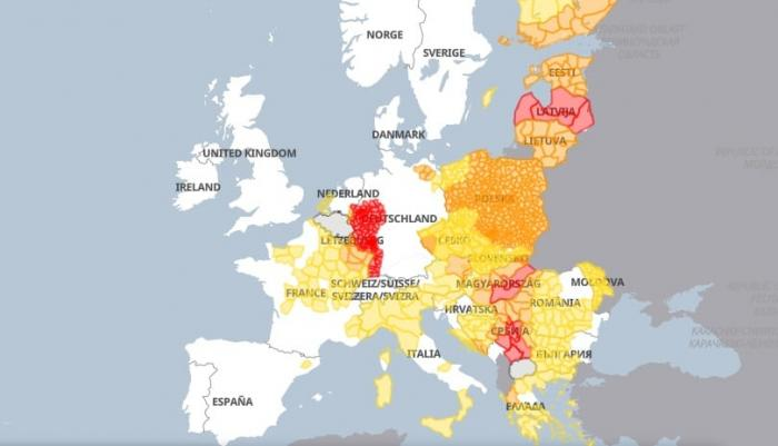 Europa, lovită de fenomene meteo extreme. Cod violet în Germania, grindină cât mărul în Italia - VIDEO