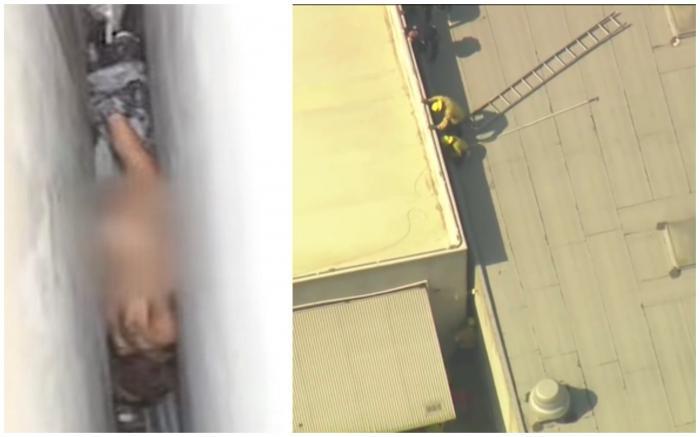"""O femeie dezbrăcată a rămas blocată în spațiul îngust dintre două clădiri, în California. """"Auzeam țipetele și nu înțelegeam de unde provin"""""""